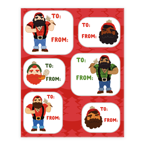 Holiday Lumberjack Gift Tags