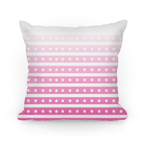 Pink Ombre Stars and Stripes Pattern