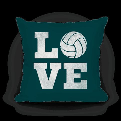 Love Volleyball Pillow