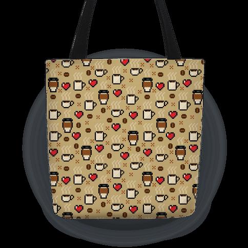 Coffee Pixel Art Pattern