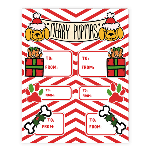 Christmas Puppy Gift Tags