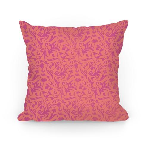 Pink Medieval Flower Pattern