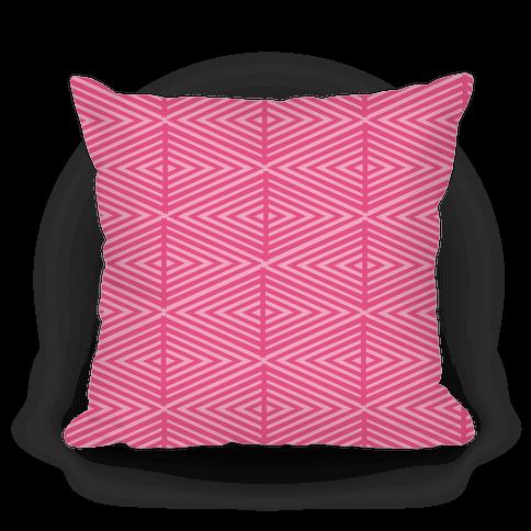 Pink Geometric Diamond Pattern