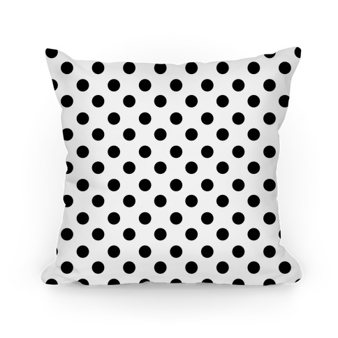 Small Polka Dot Pillow (black and white)