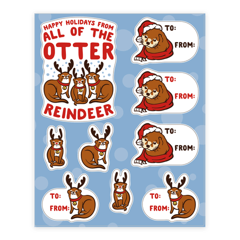 Holiday Otter Gift Tag