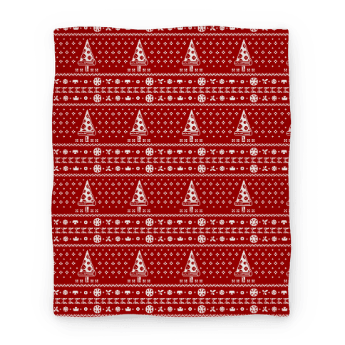 Ugly Pizza Christmas Pattern