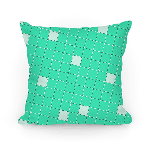 Aqua Dashed Checkers Pattern