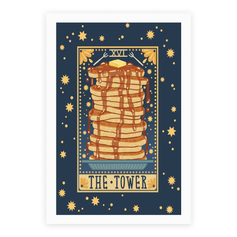 Tarot Card: The Tower (Of Pancakes)