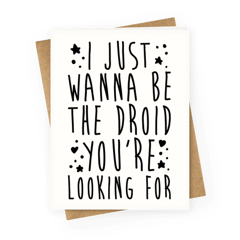 I Just Wanna Be The Droid You're Looking For Parody
