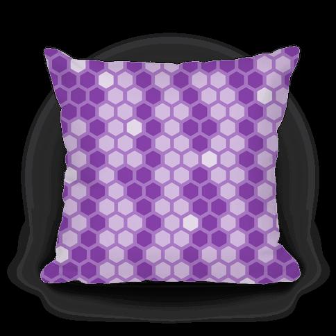 Purple Geometric Honeycomb Pattern