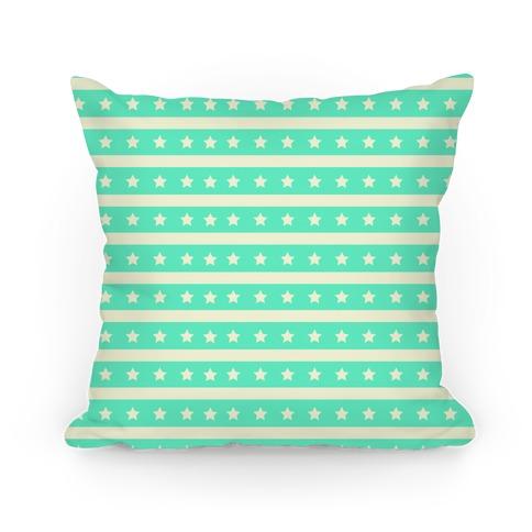 Mint Stars and Stripes Pattern