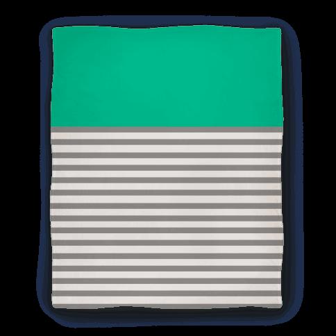 Green Color Block Stripe
