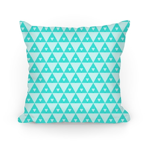 Teal Triangles Pattern