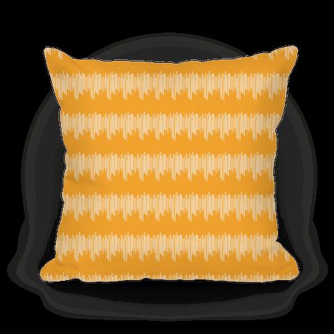 Yellow Radio Wave Pattern