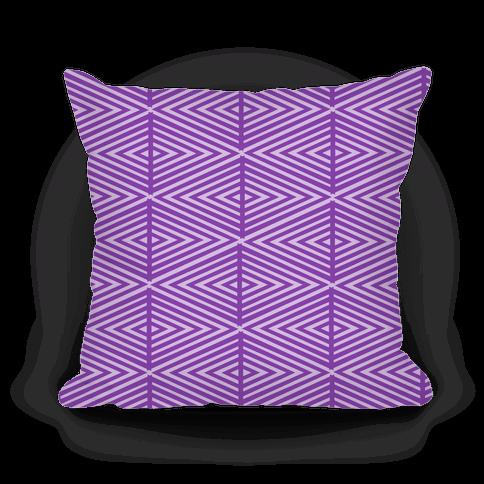 Purple Geometric Diamond Pattern