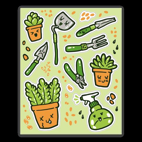 Kawaii Plants and Gardening Tools