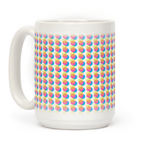 Cyan Magenta Yellow Polka Dot Pattern