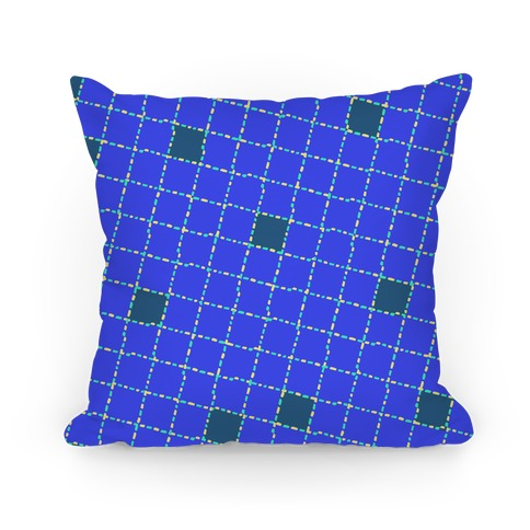 Blue Dashed Checkers Pattern