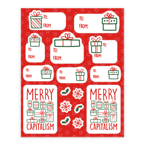 Merry Capitalism Gift Tag