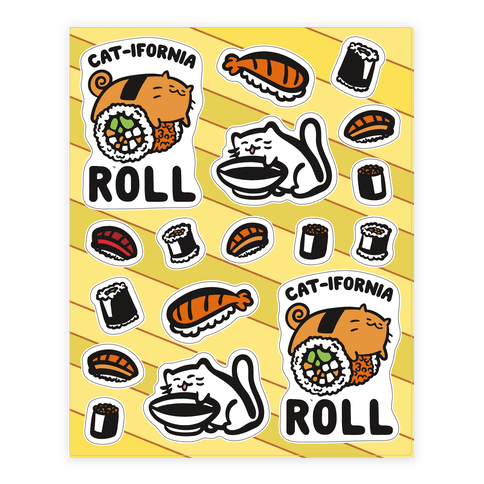 California Cat Roll and Sushi