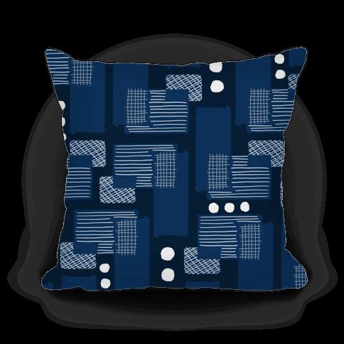 Navy Geometric Pattern
