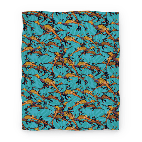 Weedy Sea Dragon Nautical Pattern