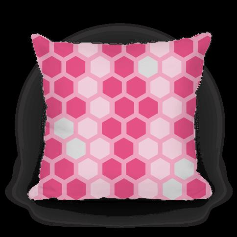 Large Pink Geometric Honeycomb Pattern