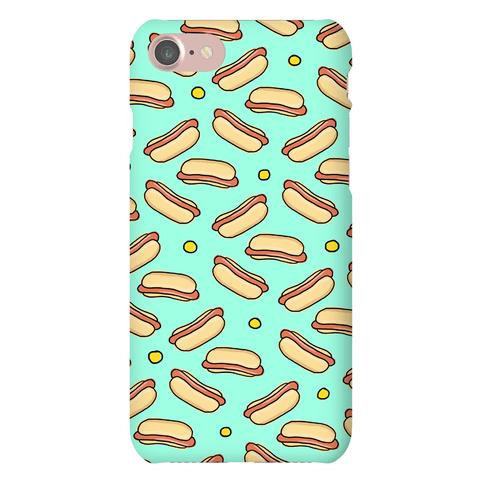 Teal Hot Dog Pattern