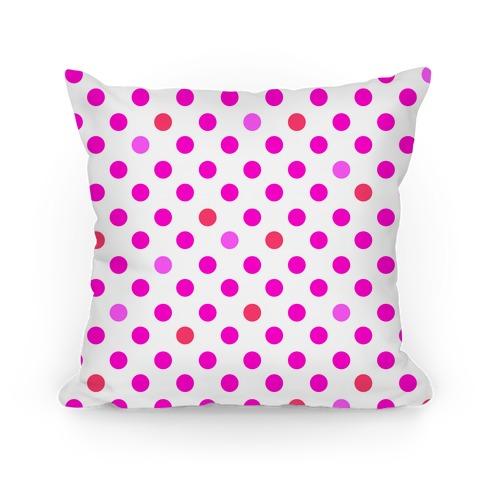 Small Polka Dot Pillow (pink)