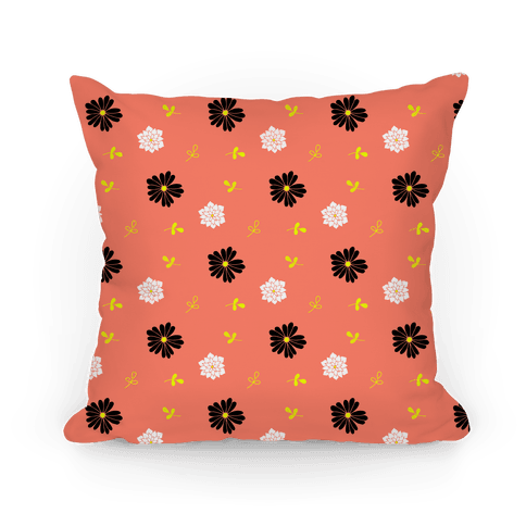 Coral Floral Tossed Pattern