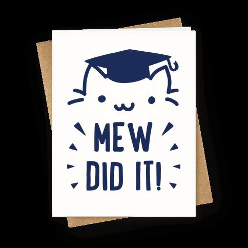 Mew Did It Graduation Cat