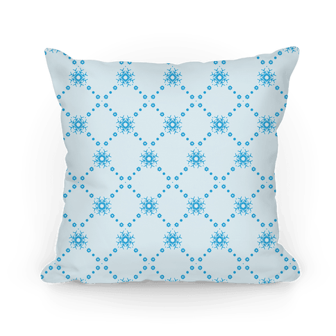 Light Blue Snowflake Pattern