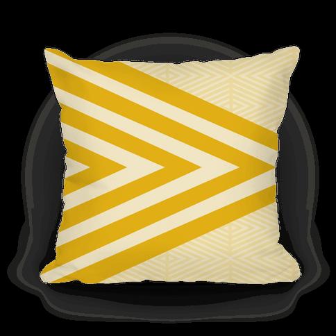 Large Yellow Geometric Diamond Pattern