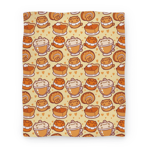 Purrmpkin Spice Cat Blanket