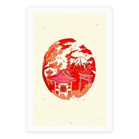 Japan's Mount Fuji And Shinto Shrines Inside The Rising Sun