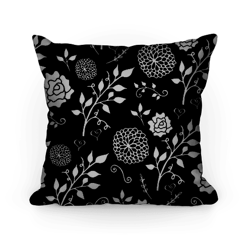 Black Whimsical Floral Pattern