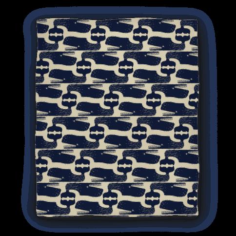 Vintage Nautical Whale Pattern