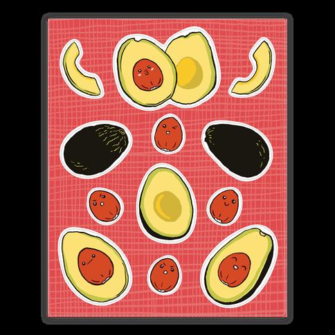 Adorable Kawaii Avocados