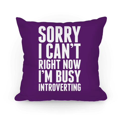 Sorry I Can't Right Now I'm Busy Introverting