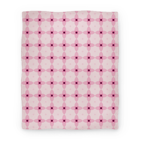 Pink Geometric Flower Pattern