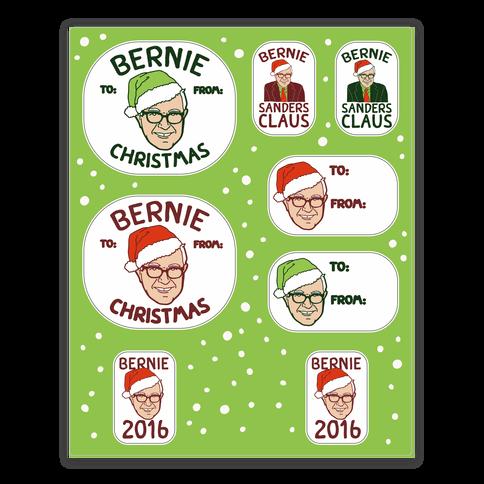 Bernie Sanders Claus Gift Tag