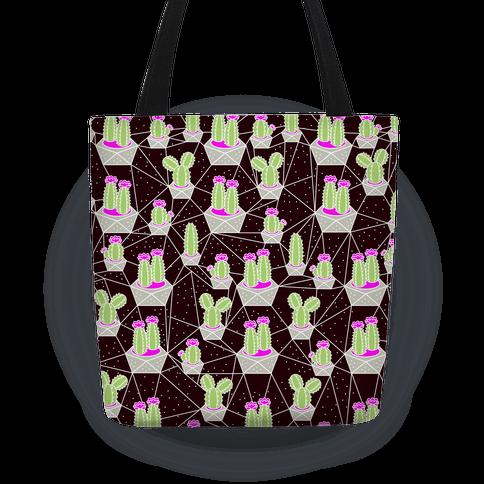 Neon Geometric Cactus Pattern