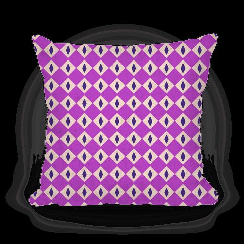 Purple Diamond Eyes Pattern