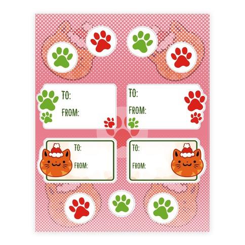 Kitty Cat Christmas Tags