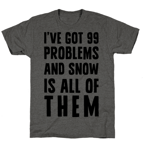 I've Got 99 Problems And Snow Is All Of Them