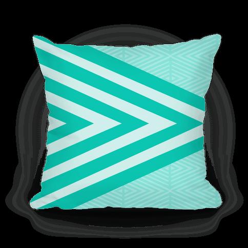 Large Teal Geometric Diamond Pattern