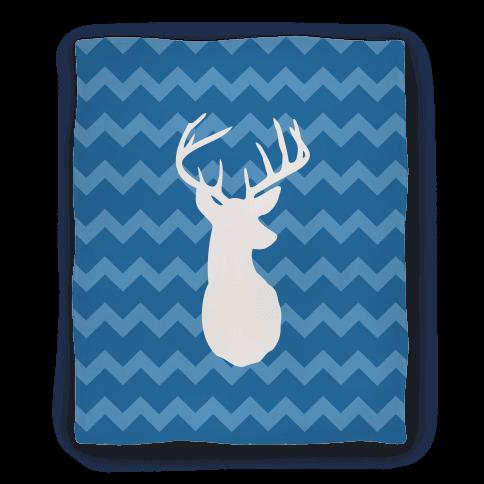 Chevron Stripe Deer Silhouette