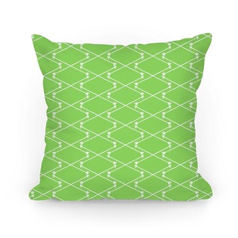 Lime Green Hipster Bow Arrow Crisscross Pattern
