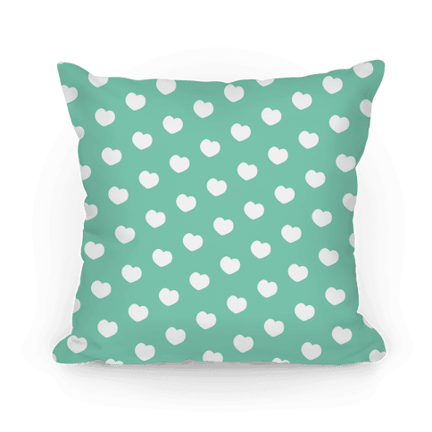 Green Polka Dot Hearts