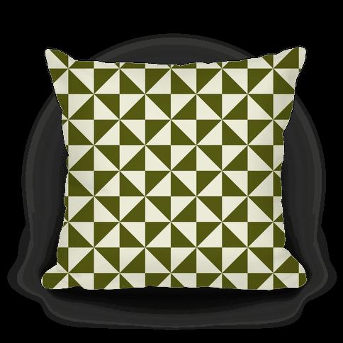 Green Large Pinwheel Pattern